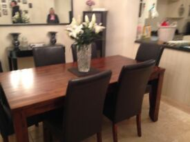 John Lewis dining table and 6chairs