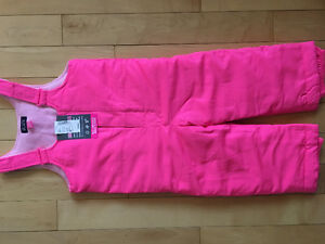 Girls winter jacket size 4 and snow pants size 3 (fit 4), new
