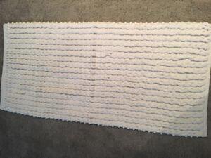 Large White Bathroom Mat
