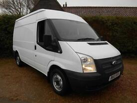 2013 13 FORD TRANSIT 2.2TDCI 100BHP 6 SPEED MWB MID ROOF EURO5 1 OWNER FSH