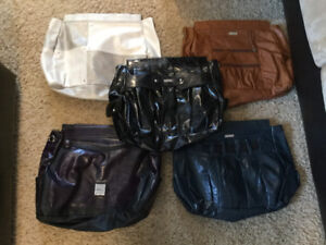 2 Large Miche Bags with 7 shells
