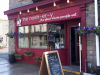 the nosh~er~y is hiring a line cook