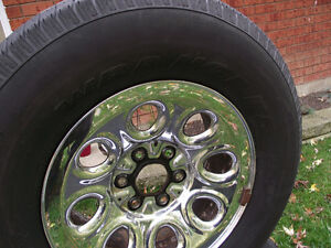 Steel chrome rims & tires