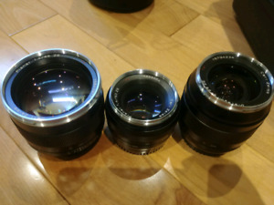 3 zeiss lenses for Canon EF, package deal