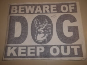 !! SALE !! STICKER DECAL BEWARE OF DOG KEEP OUT BLACK 8X10