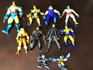 MANY WOLVERINE CYCLOPS SABRETOOTH ACTION FIGURES