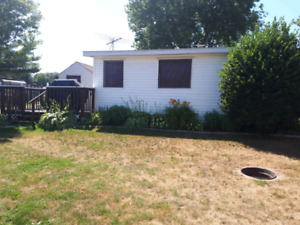 TRAILER + ADDITION ,DECK AND SHED