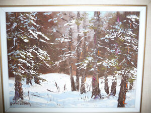 "Listed Artist,Heinz V. Pundleider ""Cross Country Trail"" Oil 1978 Stratford Kitchener Area image 2"