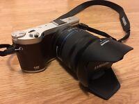 Samsung NX NX300 20.3MP Digital Camera - Brown (Kit w/ NX 18-55mm OIS Lens)