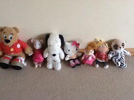 Snoopy, Hello Kitty, Angelina Ballerina, Charlie, Brittany, Billy Bear