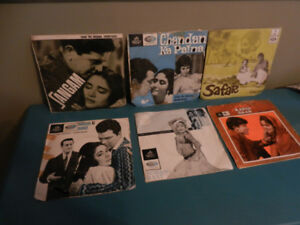"""Bollywood Vinyl 45 RPM 7"""" OST Records with Picture Sleeves HTF"""