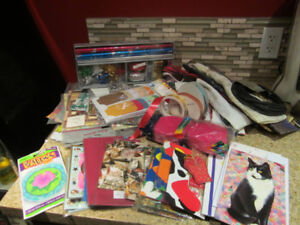 LARGE LOT OF CRAFT RIBBON GIFT WRAP AND GIFT BAGS ETC