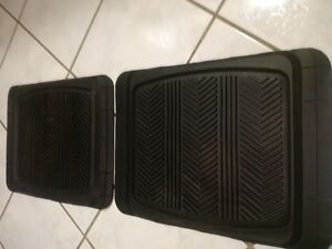 Two small black floor mats(Brand New)