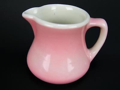 Vintage Buffalo China Restaurant Ware Pink Creamer Milk Syrup Pitcher USA