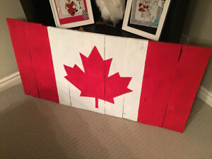 Reclaimed wood Canadian Flag