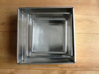 "Windsor CakeCraft Heavy Duty Square Bakeware Range - 6"" 8"" & 10"""