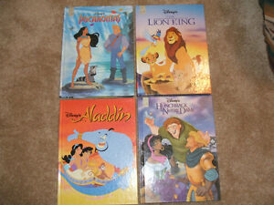 4 Large Hard Cover DISNEY books