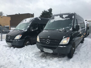 We have 3 ---....16 foot mercades sprinters vans!! Approved