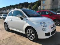 2013 (63 reg) Fiat 500 1.2 S (s/s) 3dr Hatchback Petrol 5 Speed Manual Top Model
