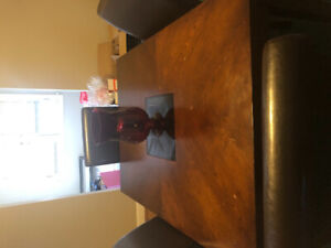 Dining table + chairs priced to go! 50$ obo