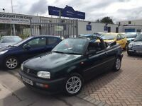 1998 (R) VW GOLF 1.8 CONVERTIBLE. LONG MOT. BARGAIN.