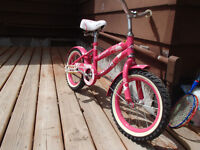 """Girl's Bright Pink 14"""" Bicycle"""