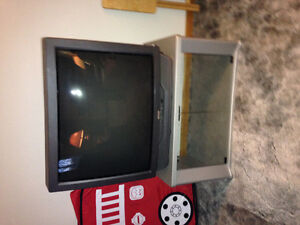 "Sears 35"" tv and stand"