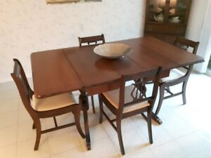 Dining Table 4 Chairs And Corner Cabinet