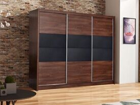 Wardrobe SANTANA 250 Oak Sterling / Brown Concrete