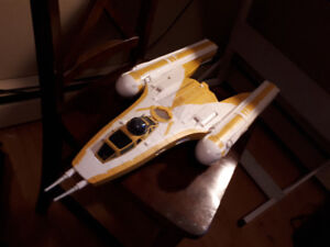 Star Wars Y-Wing bomber, custom Mothra and life size Yoda