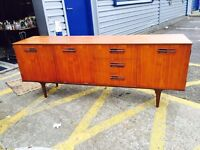 Beautiful Retro Bow Front Long Sideboard