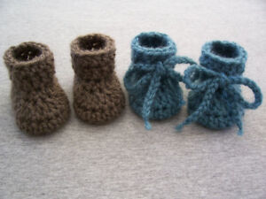 Baby Booties, Preemie to Newborn