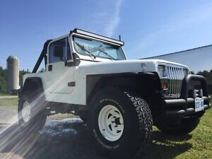 White Jeep TJ