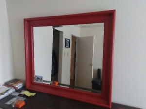 Big, heavy framed mirror