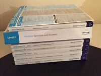 CFA Level 2 Kaplan Schweser Notes, quick sheet, practice exams and book of item sets