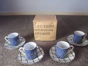 BNIB Petite 8 Pce Expresso Cup/Saucer Set By Mutiple Choice Woodcroft Morphett Vale Area Preview