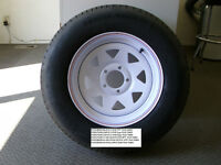 NEW TRAILER TIRES MOUNTED ON RIMS FOR SALE