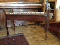 Vintage double piano stool
