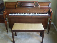Walnut Lowrey Console Piano