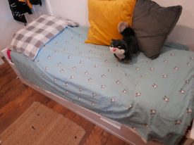 IKEA SINGLE BED (EXTENDABLE) + MATTRESS AVAILABLE