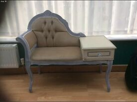 *£100 ONO* Shabby Chic Telephone Table Seat Chair