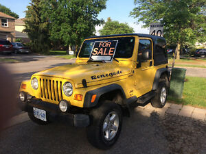 Super clean jeep tj  low millage loaded