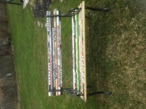 Wood hockey bench