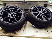 "G25 volk style 18"" rims with Goodyear all season tires -like new"