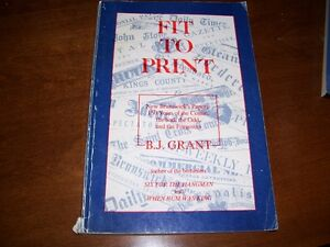 Book  Fit to Print by B J Grant
