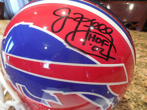 NFL game helmet signed by jim Kelly