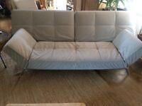Ligne Roset grey contemporary sofa