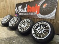 "18"" fox racing alloy wheels and tyres 5x110 Vauxhall Corsa VXR"