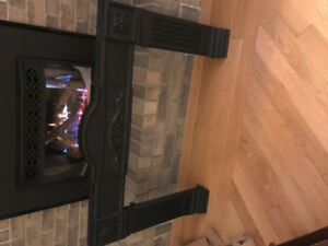 Cast iron fire place surround.