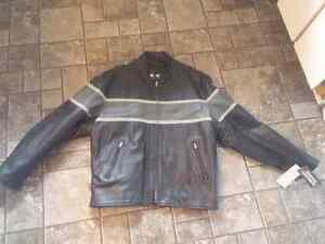 For Sale: Motorcycle Leather Jacket Size 2XL $70